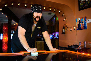 Air Hockey with Vinnie Paul